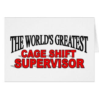 El supervisor de cambio más grande de la jaula del tarjetón