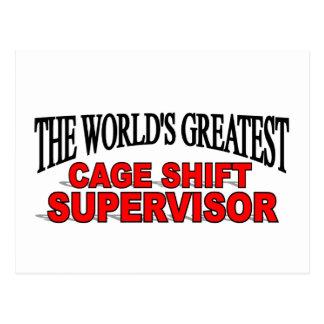 El supervisor de cambio más grande de la jaula del postal
