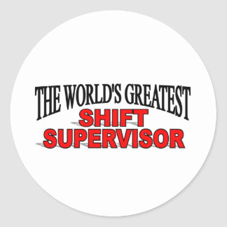 El supervisor del cambio más grande del mundo etiqueta redonda