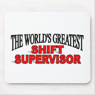 El supervisor del cambio más grande del mundo tapete de ratón