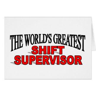 El supervisor del cambio más grande del mundo tarjeton
