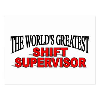 El supervisor del cambio más grande del mundo tarjetas postales