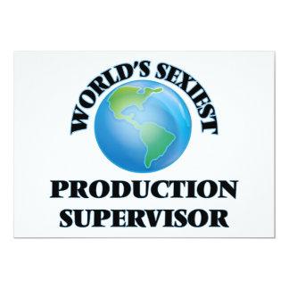 """El supervisor más atractivo de la producción del invitación 5"""" x 7"""""""
