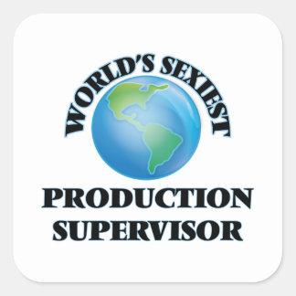 El supervisor más atractivo de la producción del calcomanía cuadradas personalizada