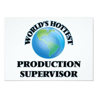 """El supervisor más caliente de la producción del invitación 5"""" x 7"""""""