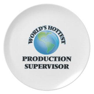 El supervisor más caliente de la producción del platos de comidas