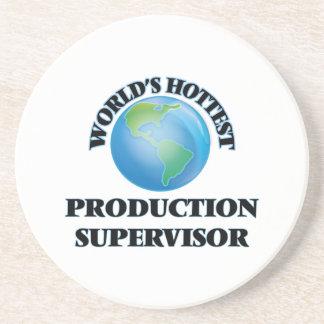 El supervisor más caliente de la producción del posavaso para bebida