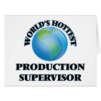 El supervisor más caliente de la producción del tarjeton