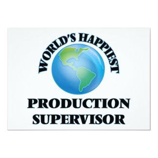 """El supervisor más feliz de la producción del mundo invitación 5"""" x 7"""""""