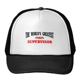 El supervisor más grande de la granja del mundo gorros bordados
