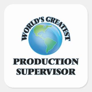 El supervisor más grande de la producción del pegatina cuadradas personalizada