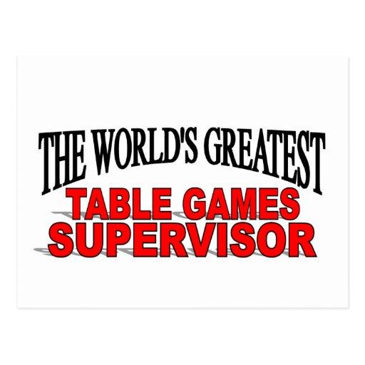 El supervisor más grande de los juegos de la tabla tarjeta postal