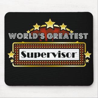El supervisor más grande del mundo tapetes de ratón