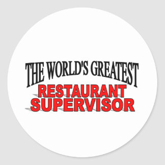 El supervisor más grande del restaurante del mundo pegatina redonda