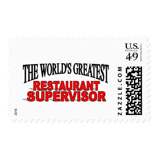 El supervisor más grande del restaurante del mundo envio