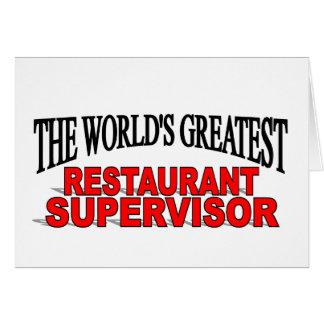 El supervisor más grande del restaurante del mundo tarjeta de felicitación