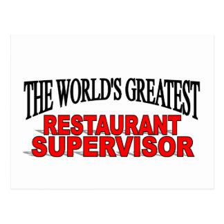 El supervisor más grande del restaurante del mundo tarjetas postales