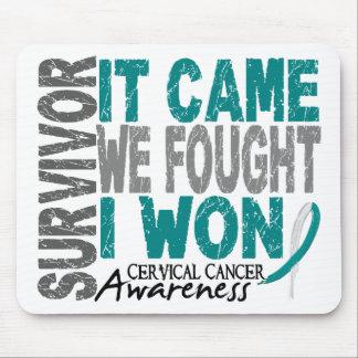 El superviviente del cáncer de cuello del útero qu alfombrillas de ratón