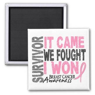 El superviviente del cáncer de pecho que vino imán cuadrado