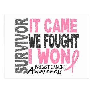 El superviviente del cáncer de pecho que vino noso postal