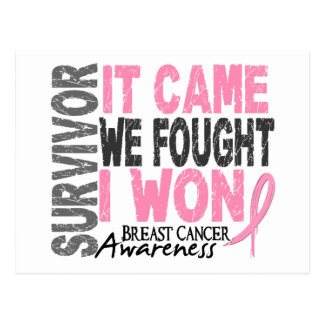 El superviviente del cáncer de pecho que vino postal