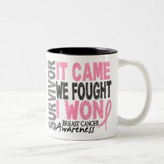 El superviviente del cáncer de pecho que vino taza de café de dos colores