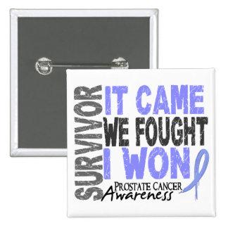 El superviviente del cáncer de próstata que vino pin cuadrado