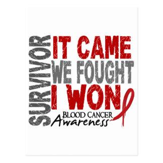 El superviviente del cáncer de sangre que vino postales