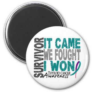 El superviviente del cáncer de tiroides que vino n imán redondo 5 cm