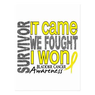 El superviviente del cáncer de vejiga que vino postal