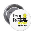 El superviviente del cáncer del sarcoma nunca da p pins