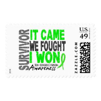 El superviviente del linfoma de Non-Hodgkins que Sellos