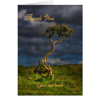 El superviviente pasado - gracias tarjeta de felicitación