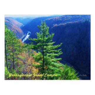 El sur pasa por alto, Gran Cañón de Pennsylvania Tarjetas Postales