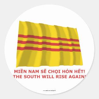 ¡El sur subirá otra vez ¡Vietnam del sur de que Pegatinas Redondas