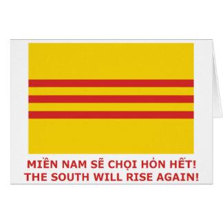 ¡El sur subirá otra vez ¡Vietnam del sur de que Tarjeton