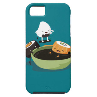 El sushi disfruta del tiempo del baño divertido iPhone 5 carcasas