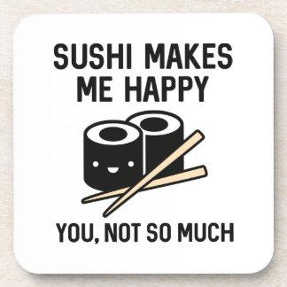 El sushi me hace feliz posavasos de bebida