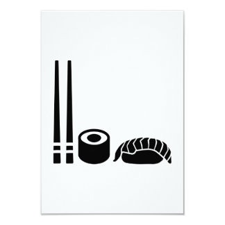 """El sushi pega el sashimi invitación 3.5"""" x 5"""""""
