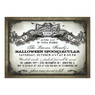 """El susto de Halloween del vintage se une a nos si Invitación 5"""" X 7"""""""
