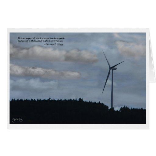 El susurro del viento tarjeta de felicitación