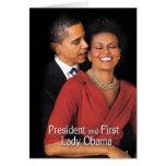 El susurro (presidente y primera señora Obama) Tarjeta De Felicitación