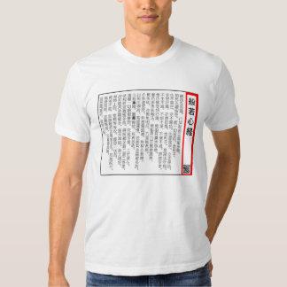 el sutra (shingyo) del hannya Japón Polera