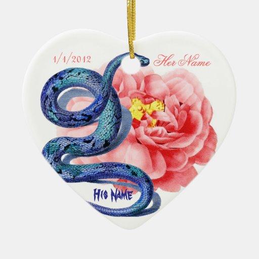 El suyo su rosa de la serpiente personaliza el reg ornato