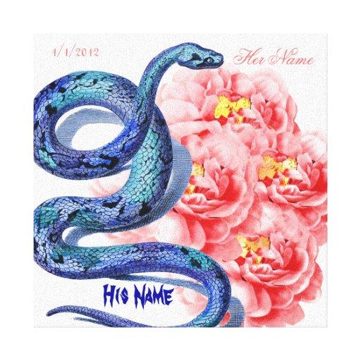 El suyo su rosa de la serpiente personaliza el reg impresión en lona estirada