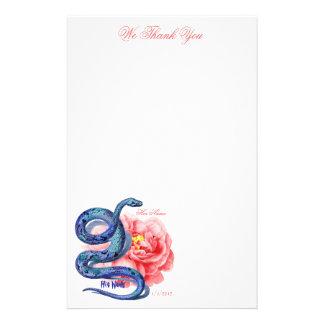 El suyo su rosa de la serpiente personaliza el reg papelería