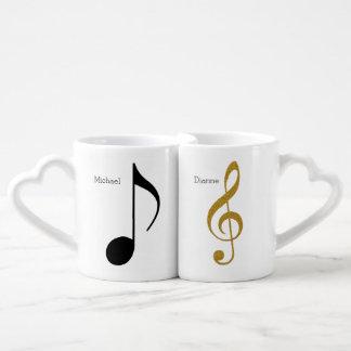 el suyo + Su Sr. del | + Señora notas de la música Set De Tazas De Café