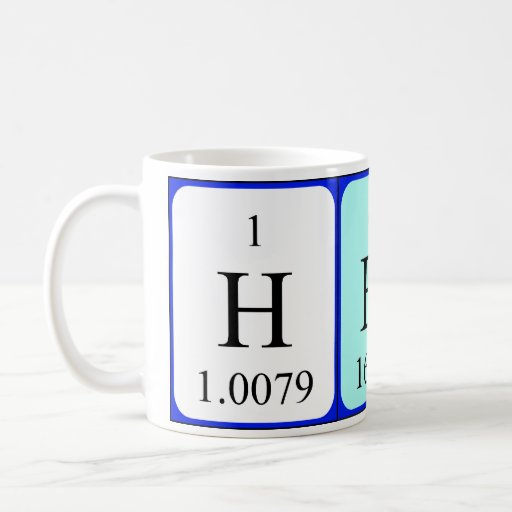 El suyo taza del nombre de la tabla periódica
