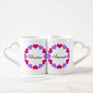 El suyo y el suyo taza para parejas