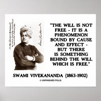 El Swami que Vivekananda no es efecto libre de la Póster